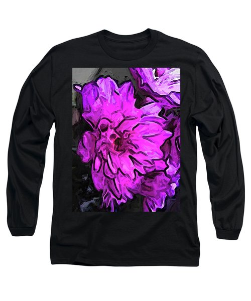 The Pink Flower With The Lavender Edges Long Sleeve T-Shirt