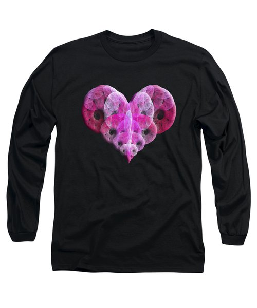 The Pink Heart Long Sleeve T-Shirt by Andee Design
