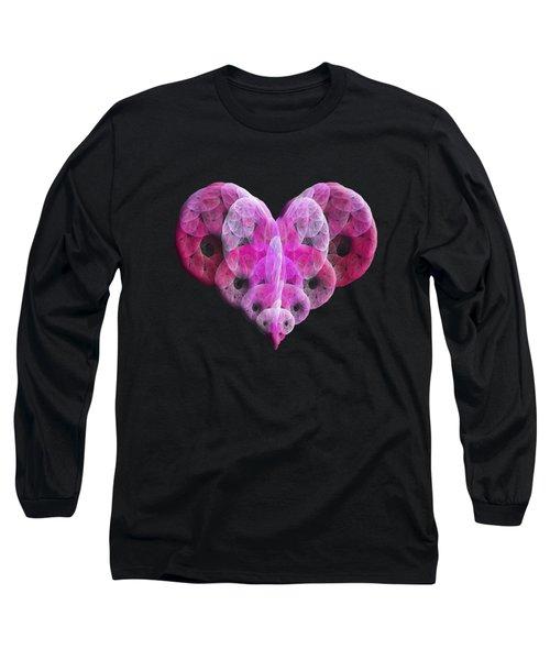 The Pink Heart Long Sleeve T-Shirt