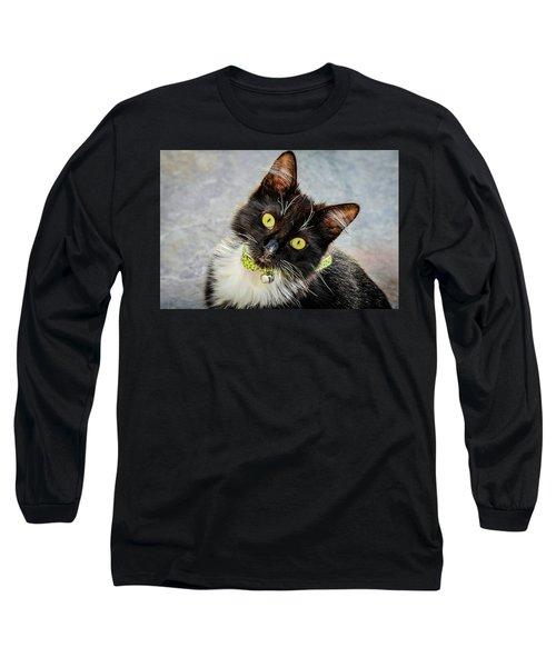 The Portrait Of A Cat Long Sleeve T-Shirt