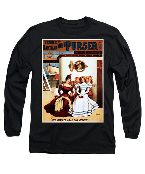 The Purser, Theatrical Poster, 1898 Long Sleeve T-Shirt