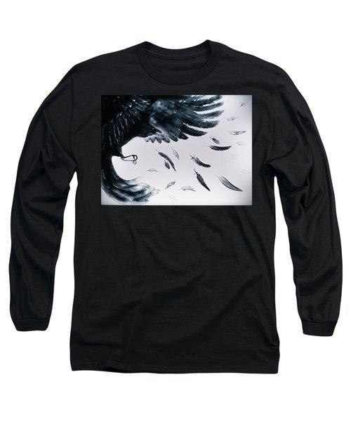 The Raven Long Sleeve T-Shirt by Elena Vedernikova