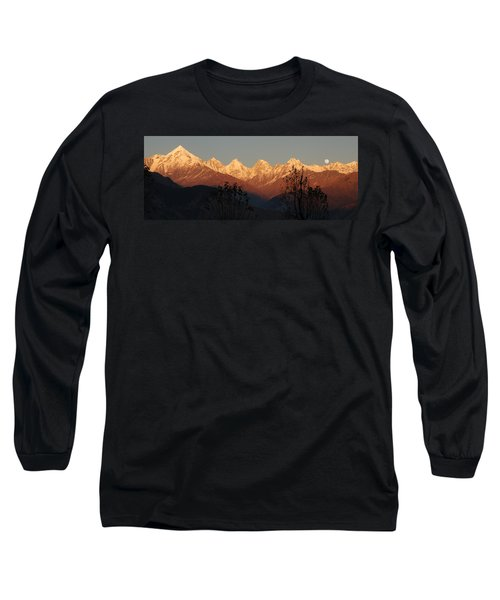 The Rendezvous. A Panorama. Long Sleeve T-Shirt by Fotosas Photography