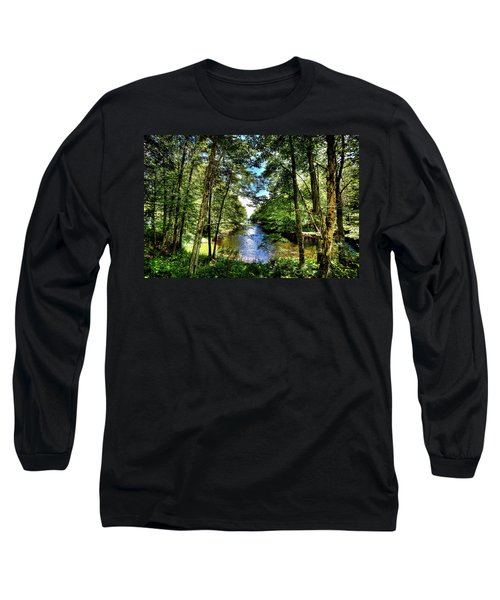 Long Sleeve T-Shirt featuring the photograph The River At Covewood by David Patterson