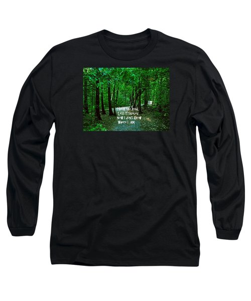 Long Sleeve T-Shirt featuring the photograph The Road Less Traveled by Gary Wonning