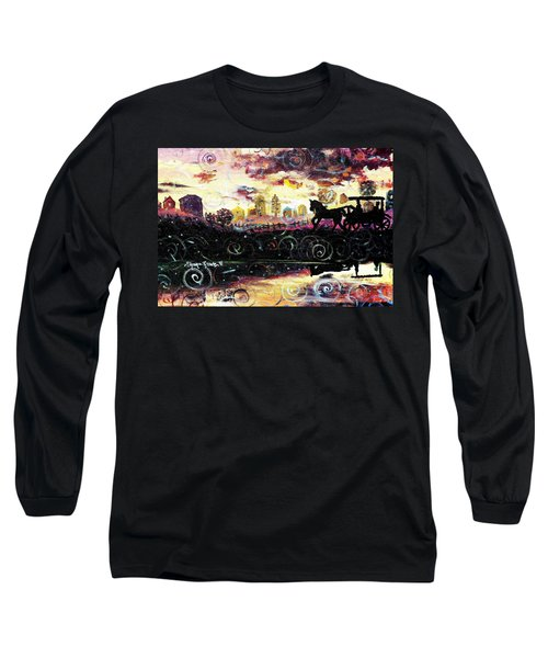 Long Sleeve T-Shirt featuring the painting The Road To Home by Shana Rowe Jackson