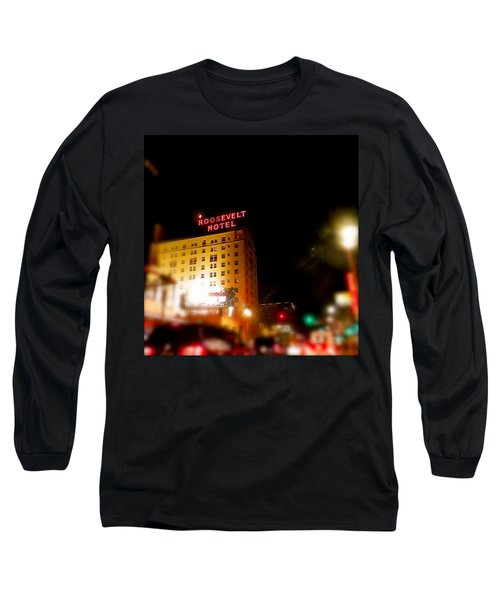 The Roosevelt Hotel By David Pucciarelli  Long Sleeve T-Shirt
