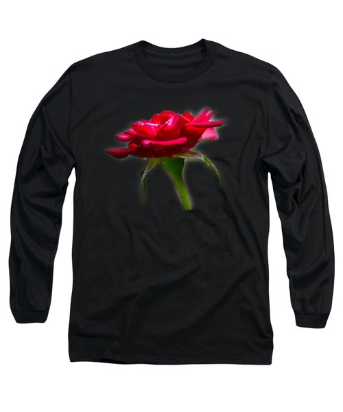 The Rose  Tee-shirt Long Sleeve T-Shirt by Donna Brown