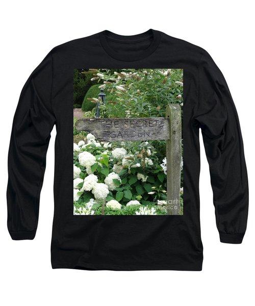 The Secret Garden Sign Long Sleeve T-Shirt