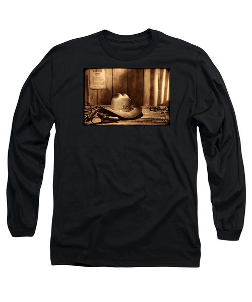 The Sheriff Office Long Sleeve T-Shirt by American West Legend By Olivier Le Queinec