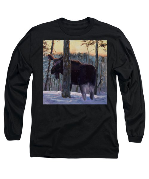 Long Sleeve T-Shirt featuring the painting The Shy One by Billie Colson