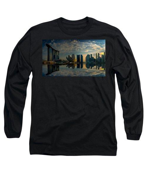 The Singapore Skyline Long Sleeve T-Shirt