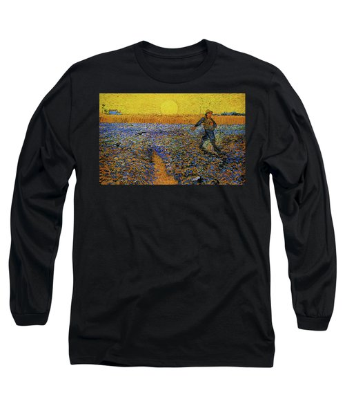 Long Sleeve T-Shirt featuring the painting The Sower by Van Gogh