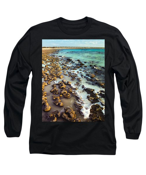 The Stromatolite Family Enjoying Its 1277500000000th Sunset Long Sleeve T-Shirt