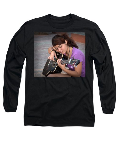 Long Sleeve T-Shirt featuring the photograph The Student by Jim Walls PhotoArtist