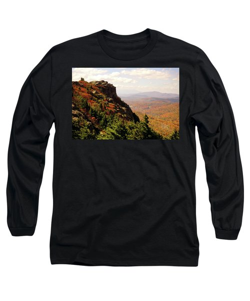 Long Sleeve T-Shirt featuring the photograph The Summit In Fall by Meta Gatschenberger