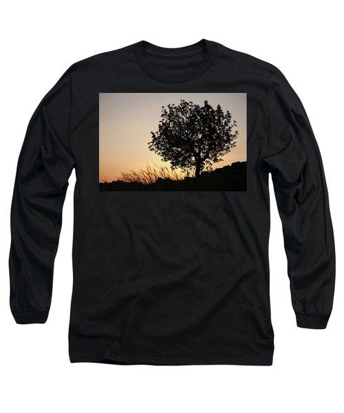 Sunset On The Hill Long Sleeve T-Shirt by Yoel Koskas