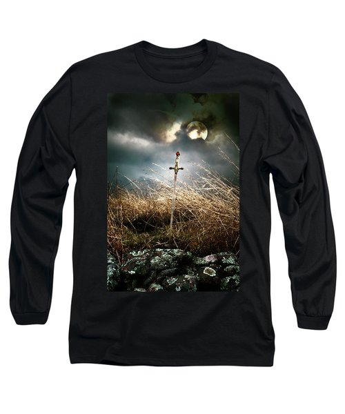 Sword Under A Full Moon Long Sleeve T-Shirt
