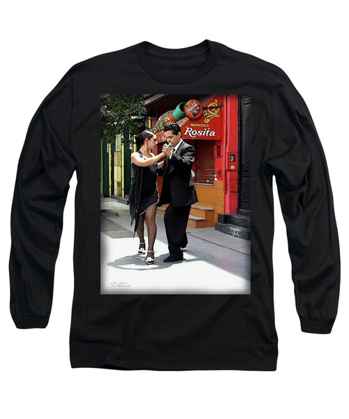 The Tango Long Sleeve T-Shirt by Joan  Minchak