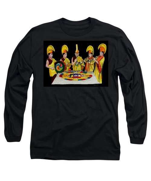 The Tibetan Monks At Lilydale Assembly Long Sleeve T-Shirt