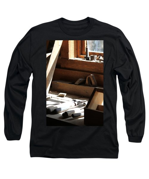 Long Sleeve T-Shirt featuring the photograph The Tools by Laddie Halupa