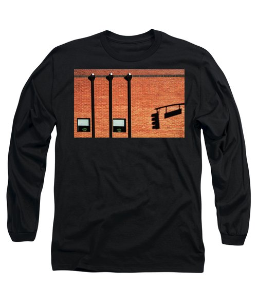 The Traffic Light Intruder Long Sleeve T-Shirt by Gary Slawsky