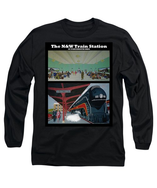The Train Station At Portsmouth Ohio Long Sleeve T-Shirt by Frank Hunter