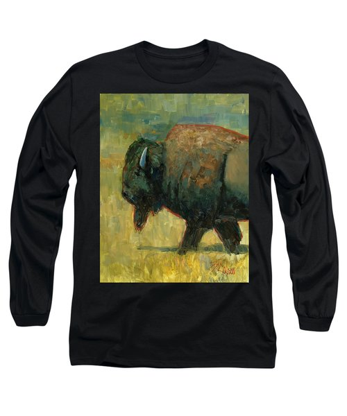 Long Sleeve T-Shirt featuring the painting The Traveler by Billie Colson