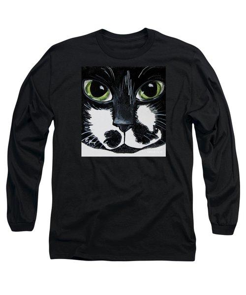 The Tuxedo Cat Long Sleeve T-Shirt by Elizabeth Robinette Tyndall