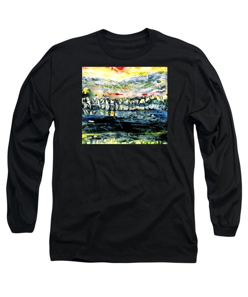Long Sleeve T-Shirt featuring the painting The Twisted Reach Of Crazy Sorrow by Trudi Doyle