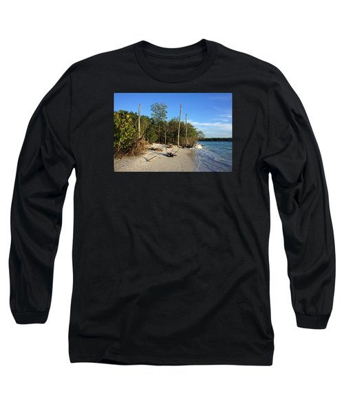 The Unspoiled Beauty Of Barefoot Beach In Naples - Landscape Long Sleeve T-Shirt