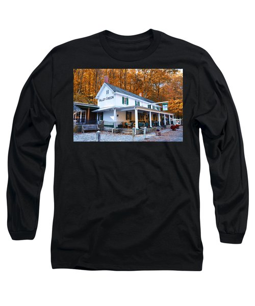 Long Sleeve T-Shirt featuring the photograph The Valley Green Inn In Autumn by Bill Cannon