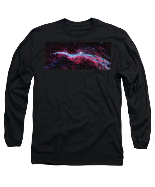 Long Sleeve T-Shirt featuring the photograph The Veil Nebula by Nasa