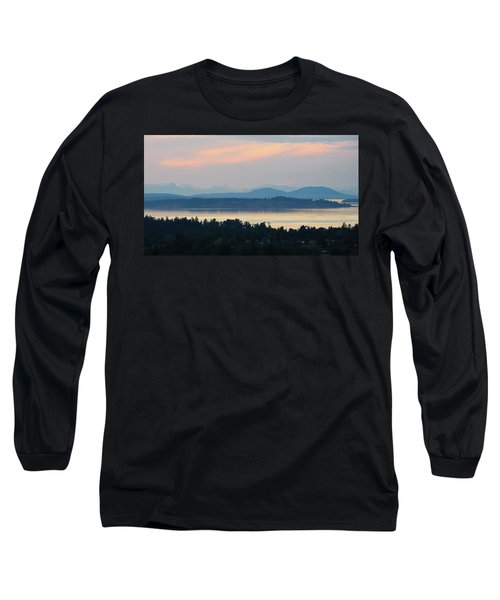 The View From Mt. Tolmie Long Sleeve T-Shirt by Keith Boone