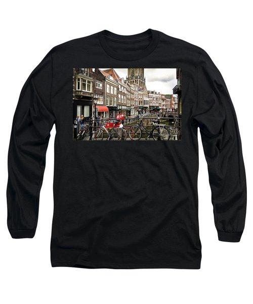 Long Sleeve T-Shirt featuring the photograph The Vismarkt In Utrecht by RicardMN Photography