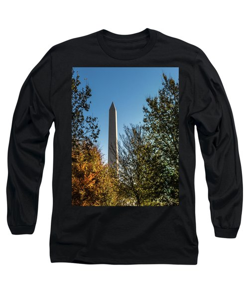 The Washington Monument In Fall Long Sleeve T-Shirt