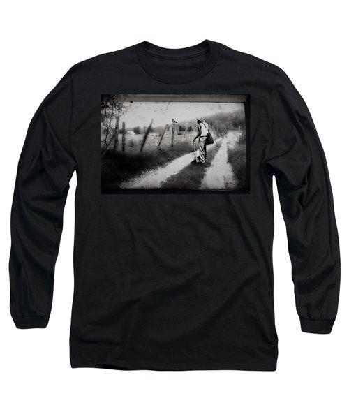 Long Sleeve T-Shirt featuring the photograph The Way Of The Crow by Gray  Artus