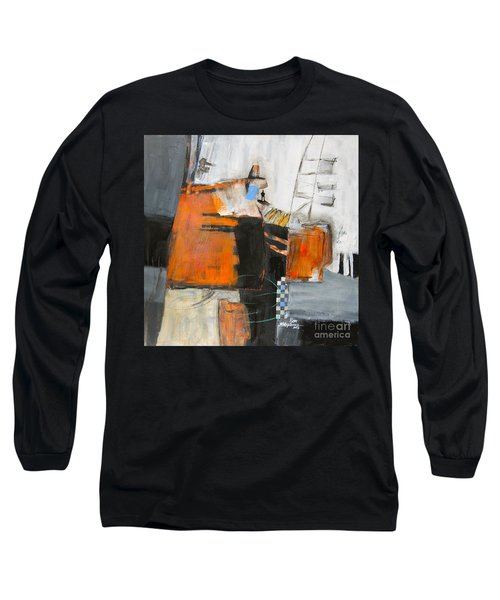 Long Sleeve T-Shirt featuring the painting The Way Out by Ron Stephens