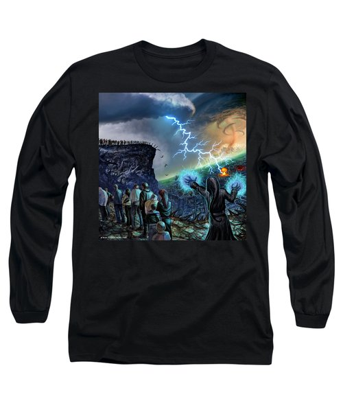 The Weak Shall Bring Us Down Long Sleeve T-Shirt by Tony Koehl