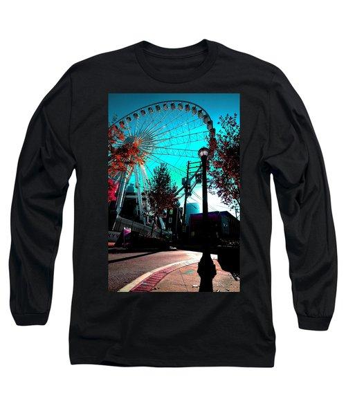 The Wheel Blue Long Sleeve T-Shirt