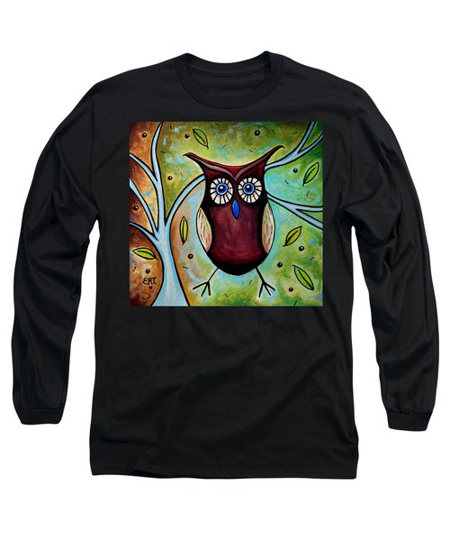 The Whimsical Owl Long Sleeve T-Shirt