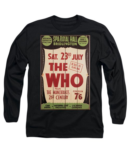 The Who 1966 Tour Poster Long Sleeve T-Shirt