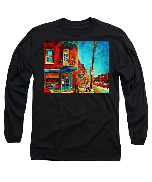 Long Sleeve T-Shirt featuring the painting The Wilensky Doorway by Carole Spandau