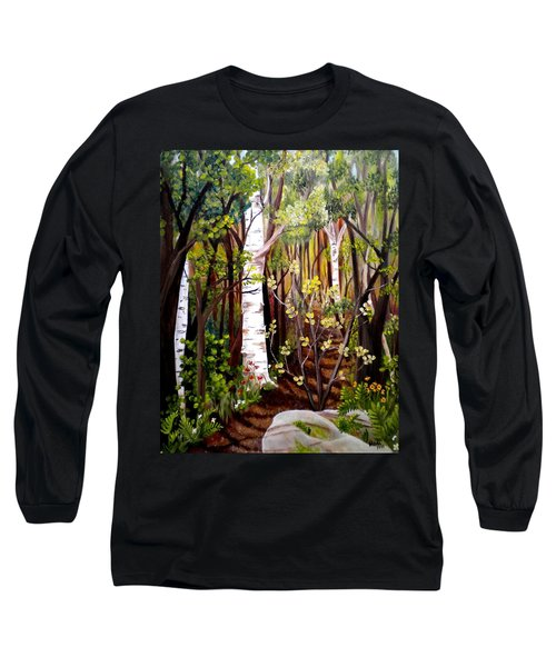The Woodland Trail Long Sleeve T-Shirt by Renate Nadi Wesley
