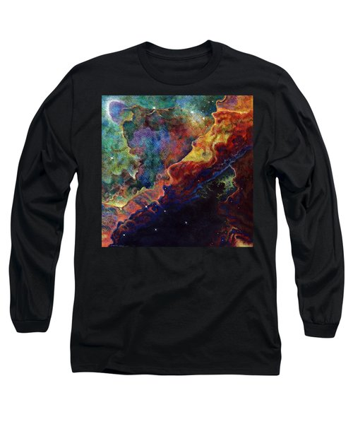 Long Sleeve T-Shirt featuring the drawing The Word by Suzanne McKee
