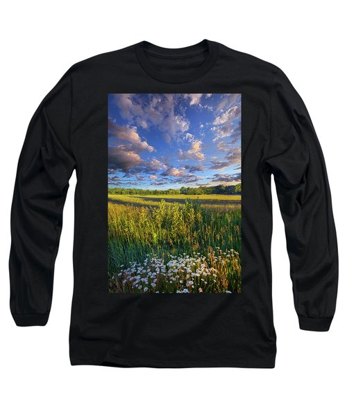 The World Is Quiet Here Long Sleeve T-Shirt by Phil Koch