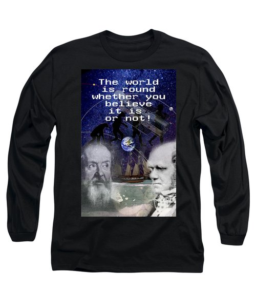 The World Is Round Long Sleeve T-Shirt by Steve Karol