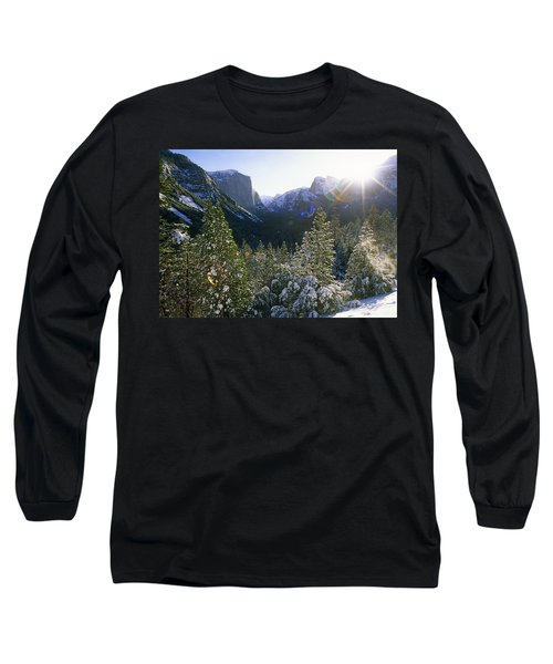 The Yosemite Valley In Winter Long Sleeve T-Shirt