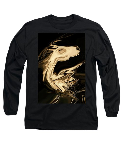 Long Sleeve T-Shirt featuring the digital art The Young Pegasus by Rabi Khan