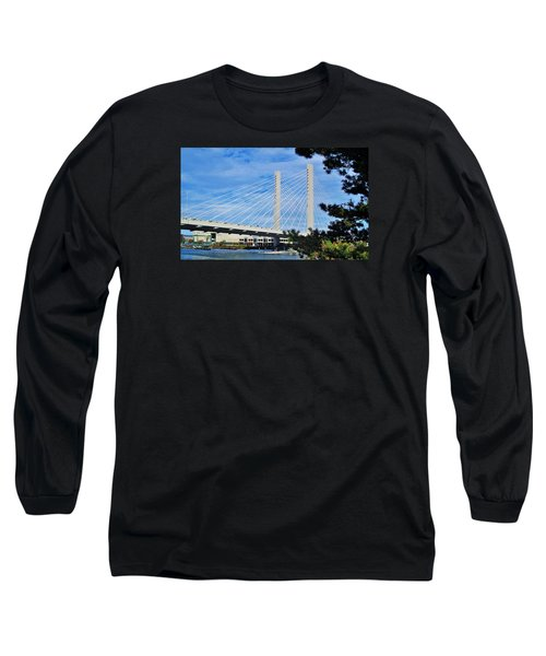 Thea Foss Bridge  Long Sleeve T-Shirt by Martin Cline